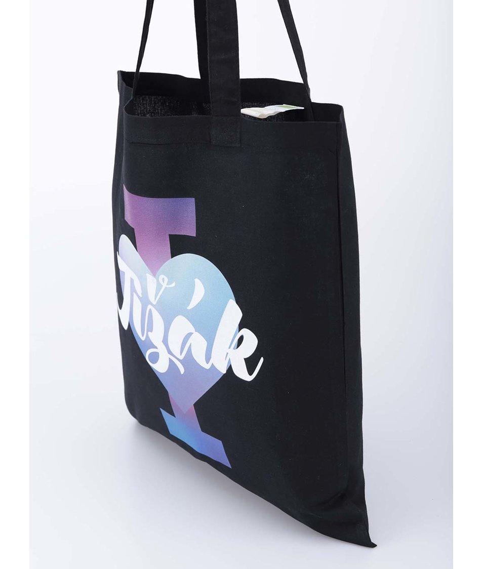 Černá plátěná taška I Love Jižák