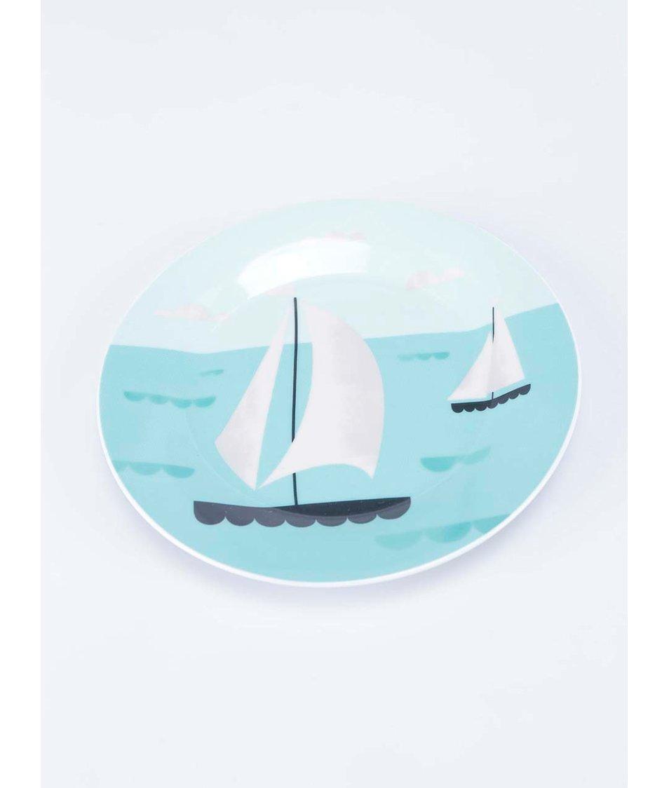 Porcelánový set čtyř barevných talířů Magpie AHOY! Side