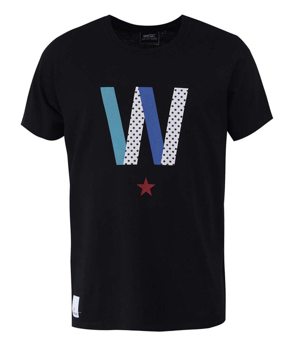 Černé triko s potiskem WeSC Multi W