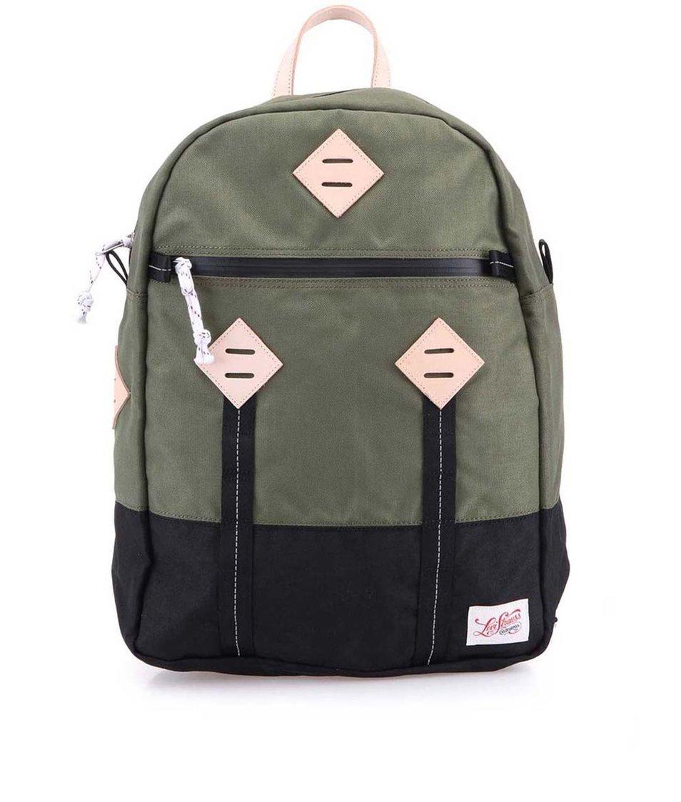 Zelený batoh Levi's Colorblocked