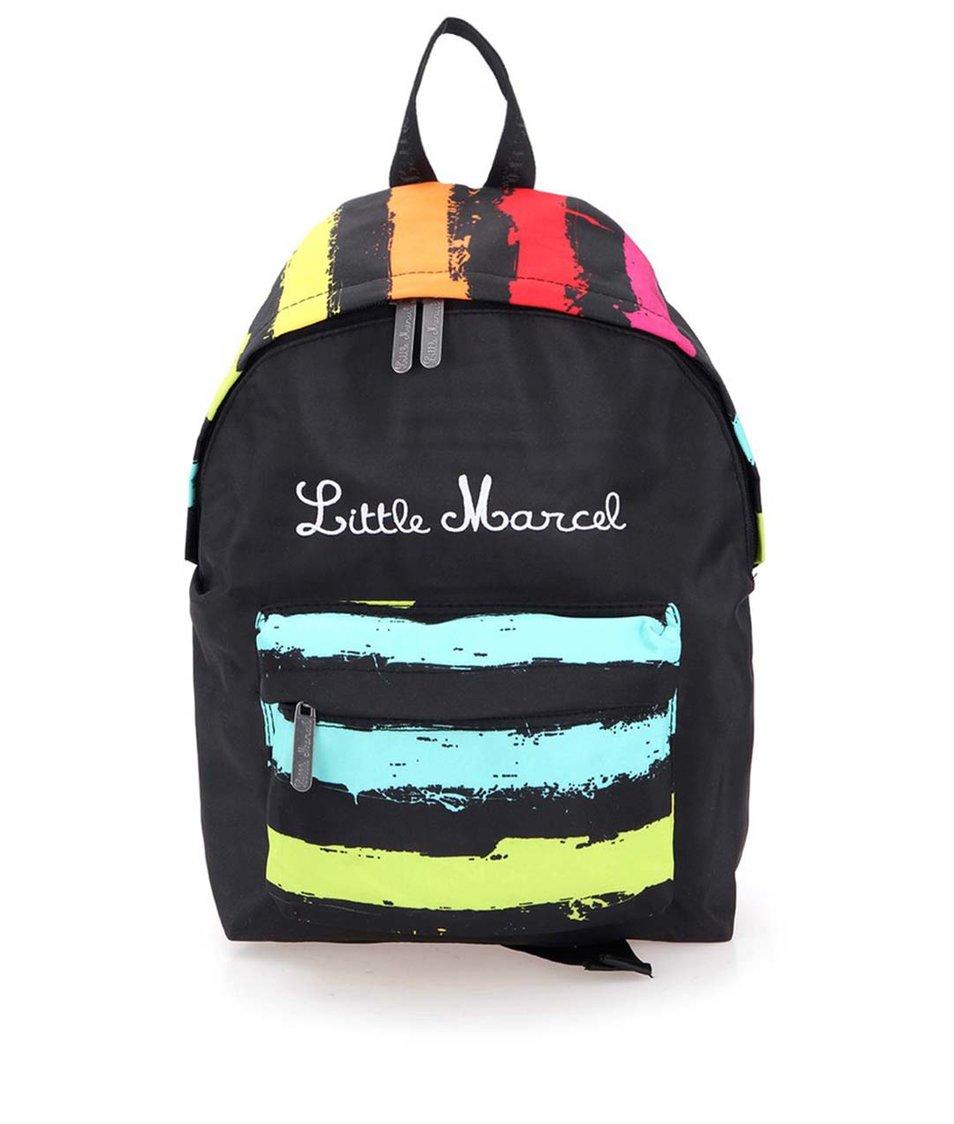 Černý pruhovaný batoh Little Marcel Nibion P