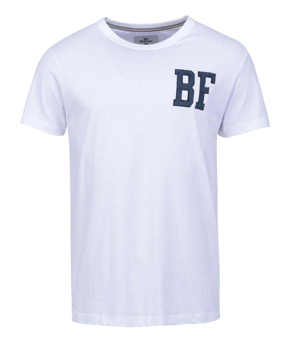 Bílé pánské triko s logem Bellfield Calvin
