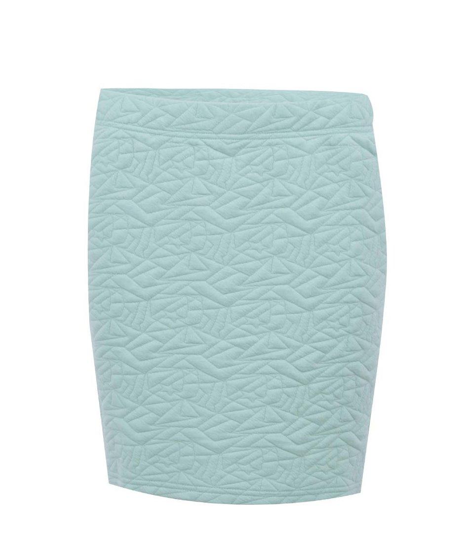 Mentolová sukně s prošívaným vzorem Desires Dyed 2