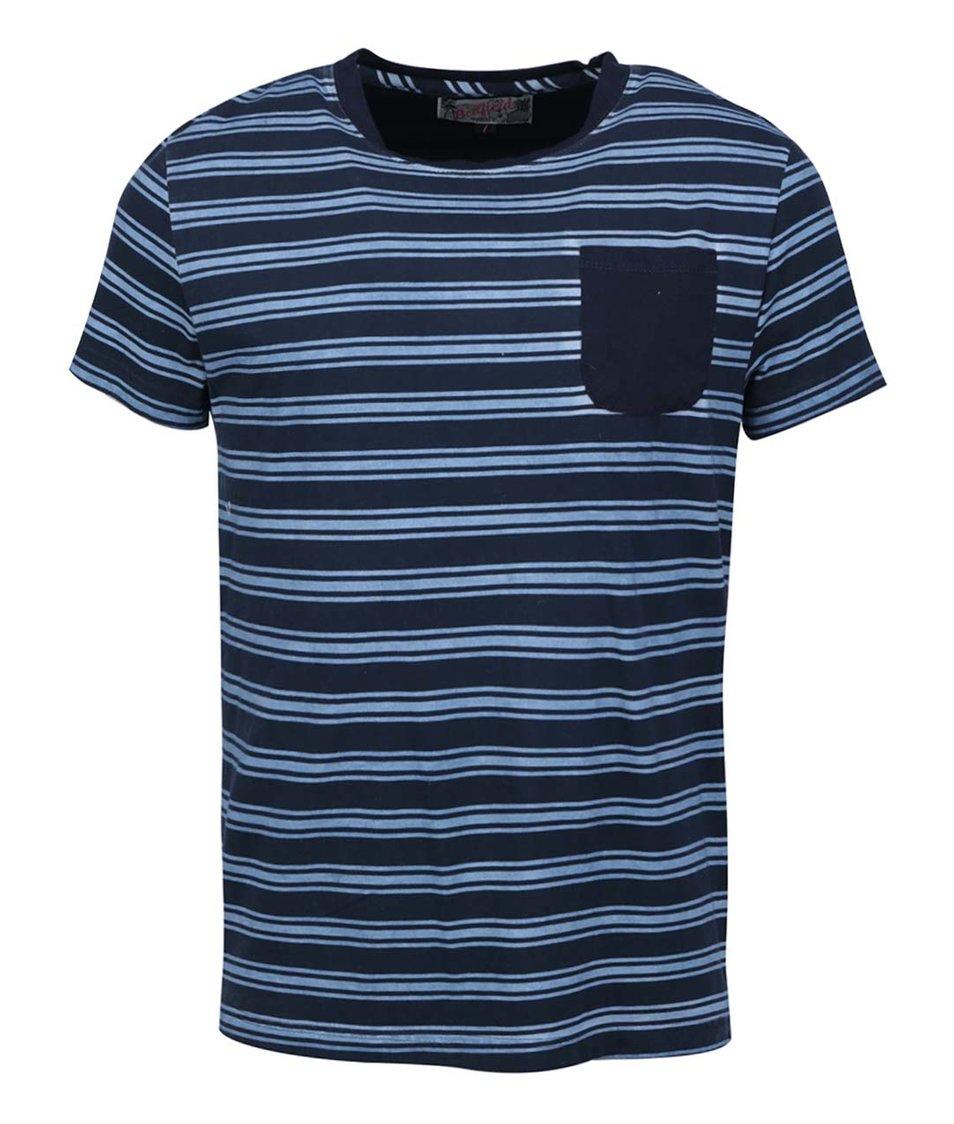 Tmavě modré pánské pruhované triko Bellfield Garret