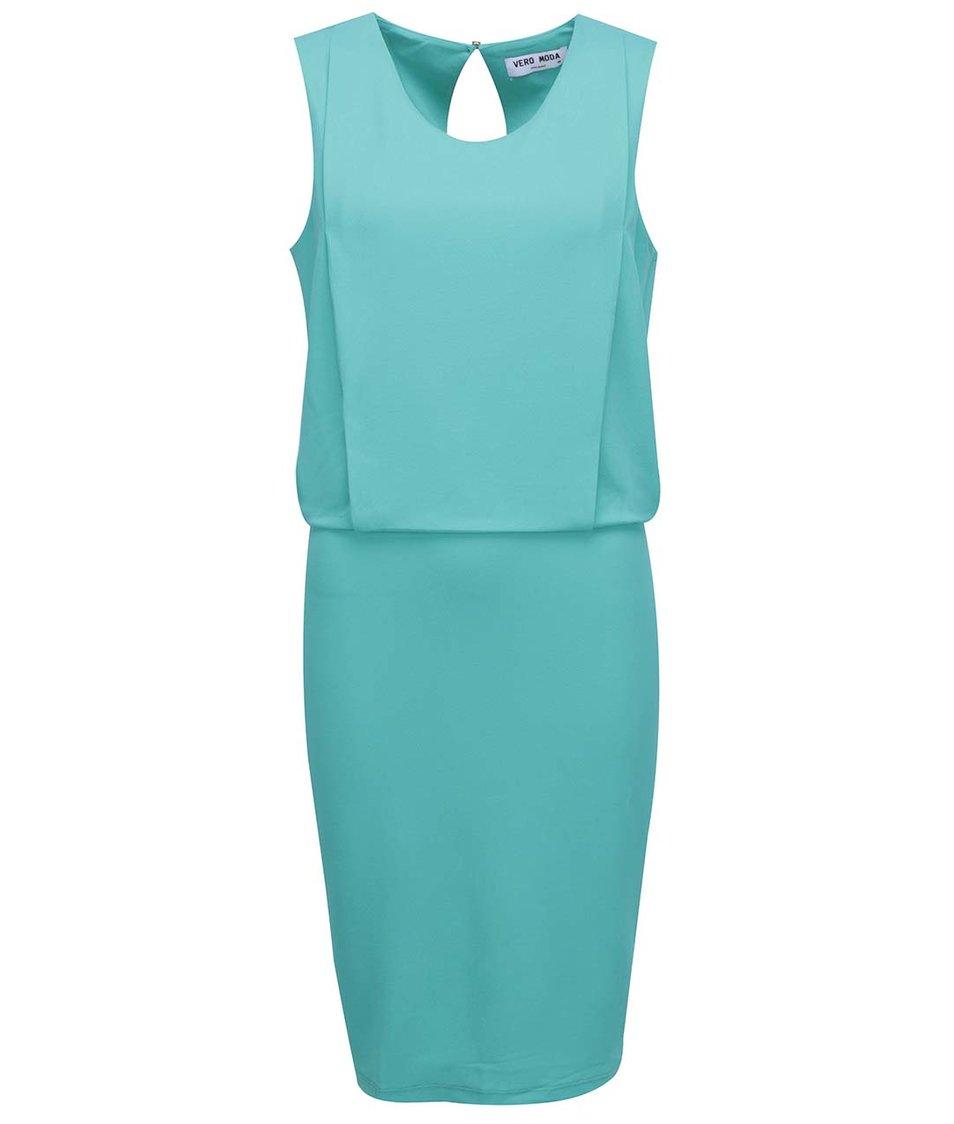 Tyrkysové šaty Vero Moda Mood