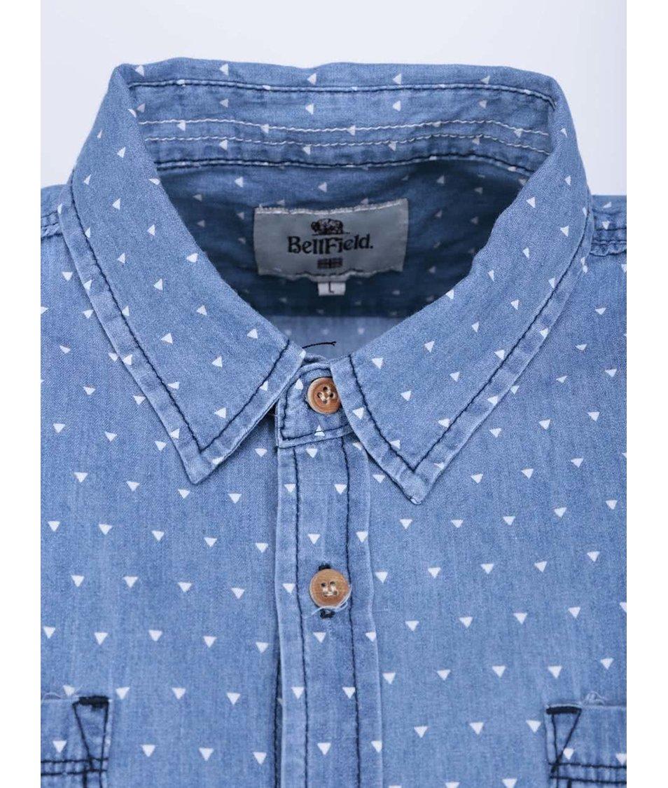 Modrá pánská košile s krátkým rukávem Bellfield Capitol