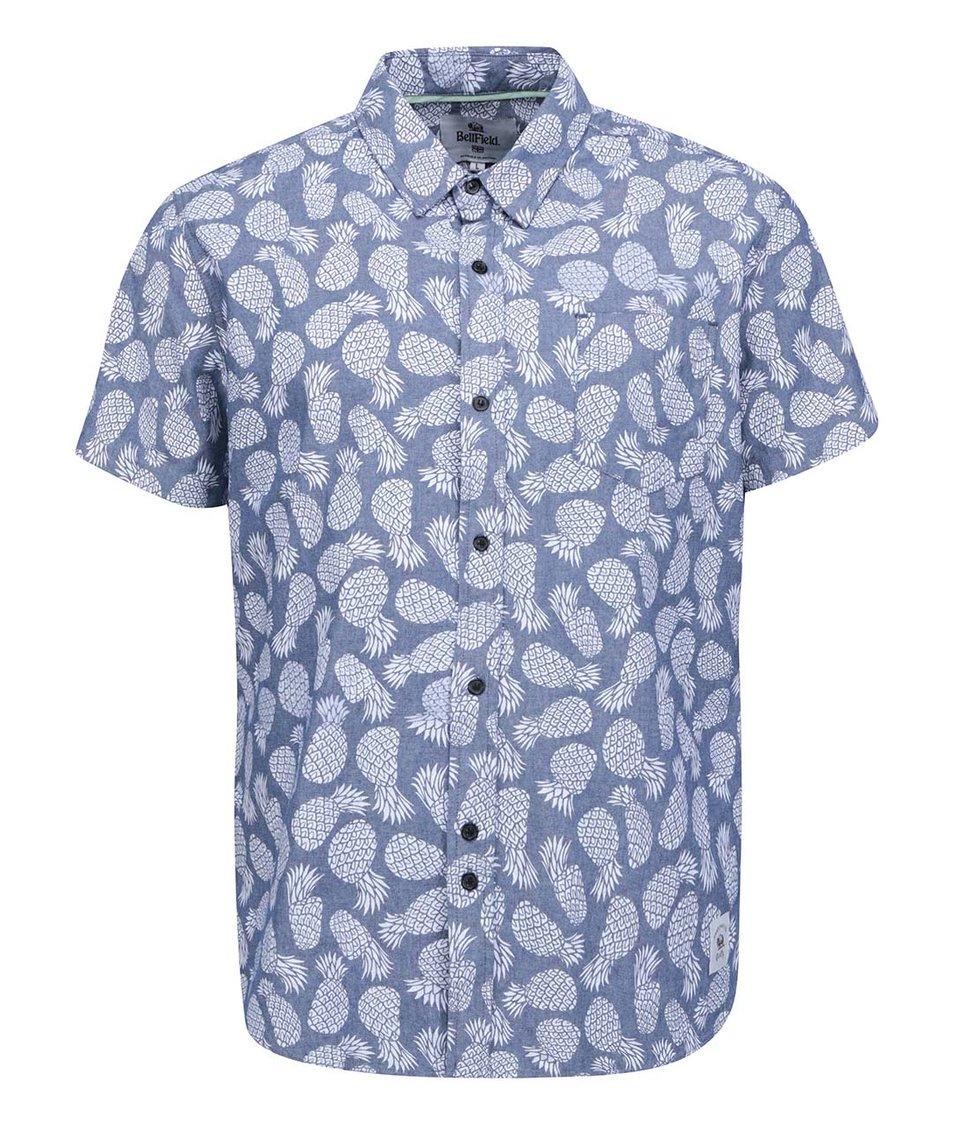 Modrá pánská košile s potiskem Bellfield Namibia