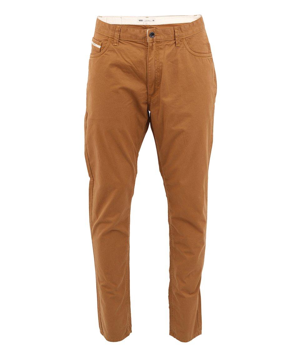 Hnědé pánské kalhoty Vans V46 Taper