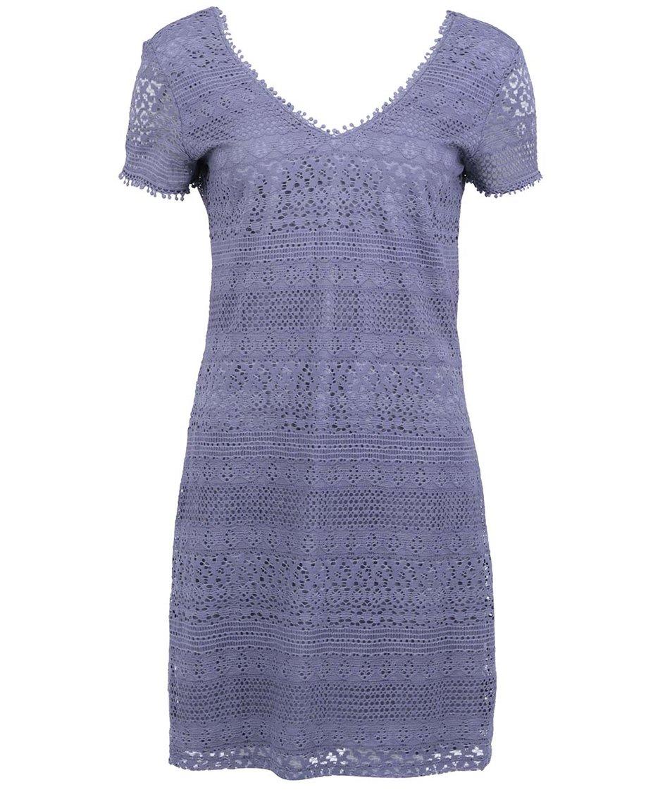 Šedomodré krajkované šaty ONLY Heaven