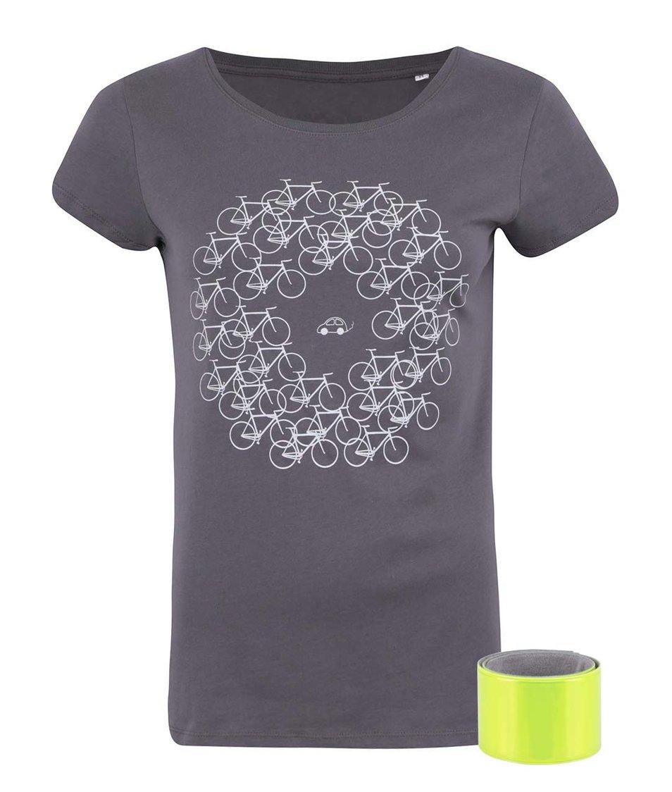Tmavě šedé dámské tričko ZOOT Originál Více kol