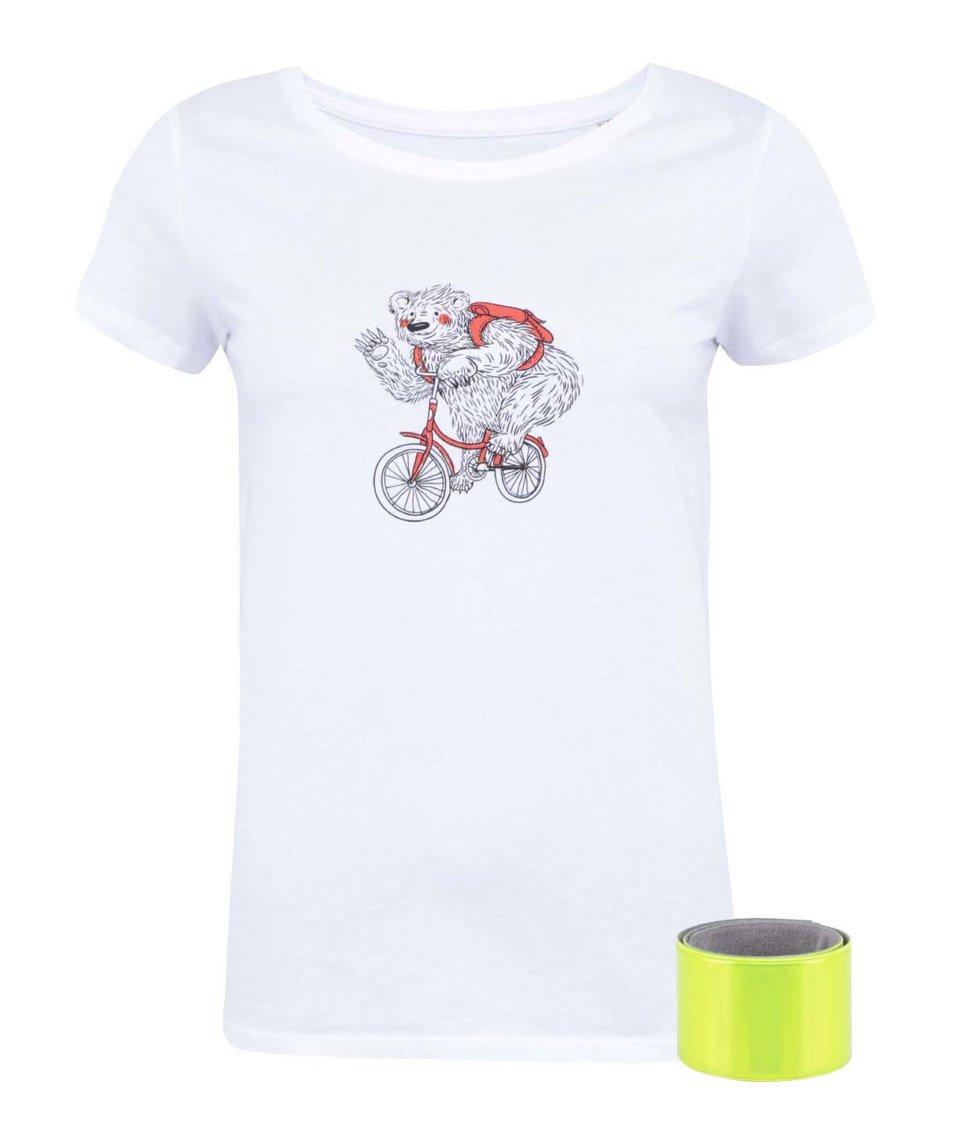 Bílé dámské tričko ZOOT Originál Medvěd