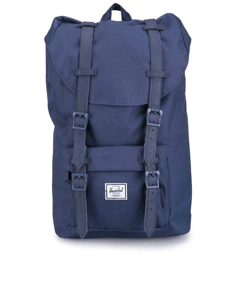 Menší tmavě modrý batoh s přední kapsou Herschel Little America
