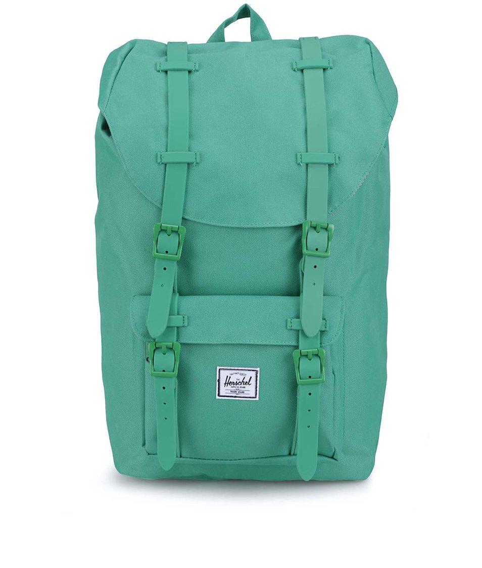 Menší zelený batoh s přední kapsou Herschel Little America