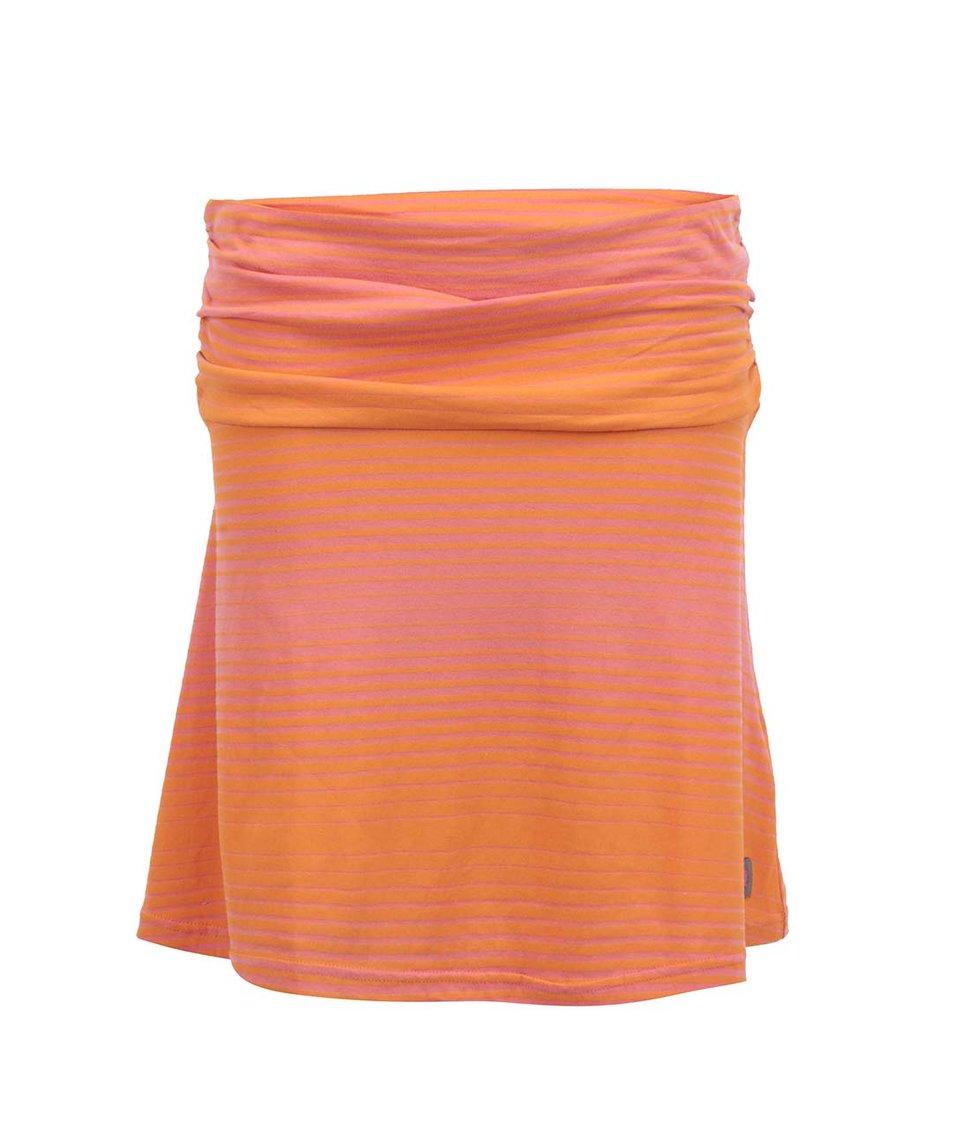 Oranžová pruhovaná sukně Tranquillo Rio