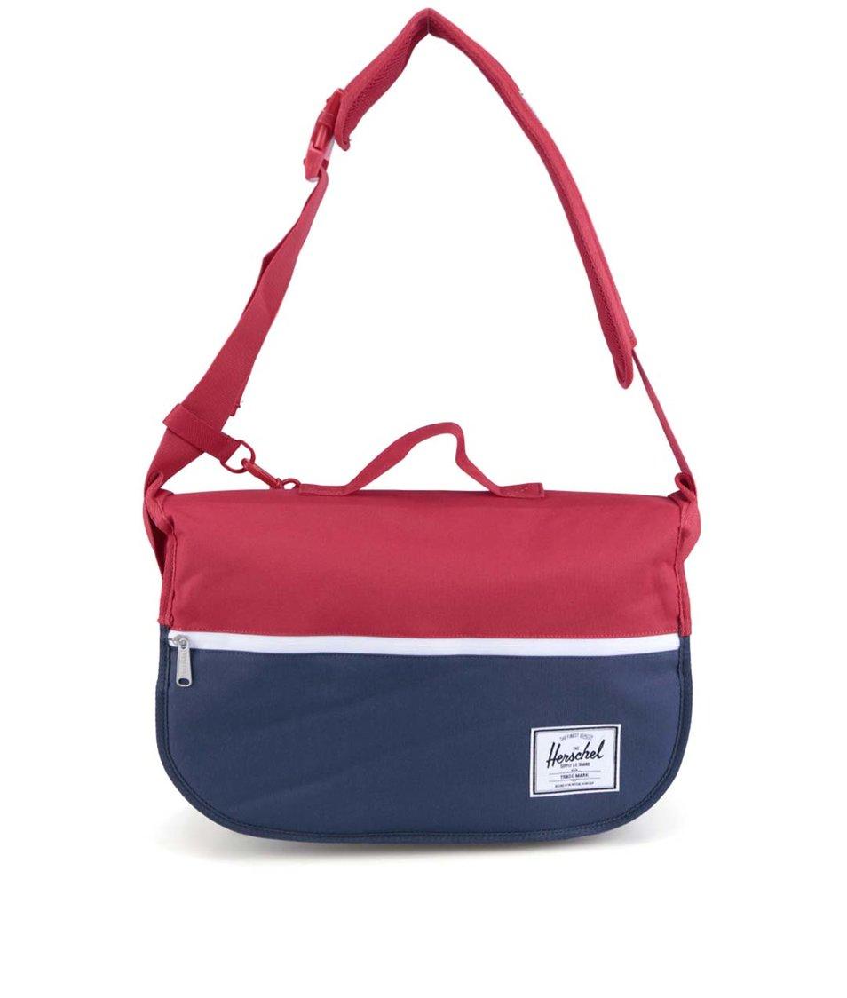 Červeno-modrá taška přes rameno Herschel Pop Quiz Messenger