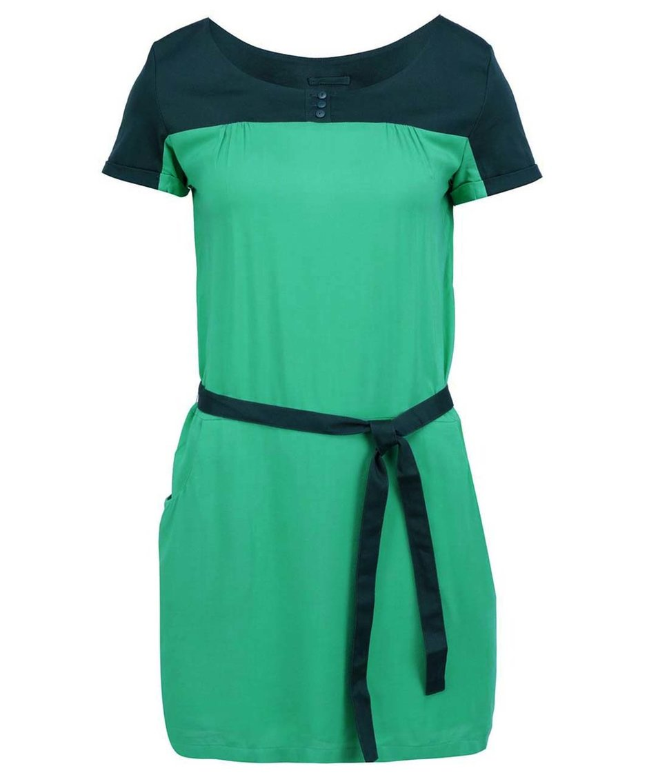 Zelené šaty s páskem Skunkfunk Jewel