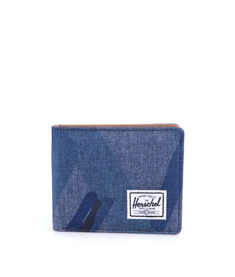 Modrá peněženka se vzorem Herschel Hank Plus