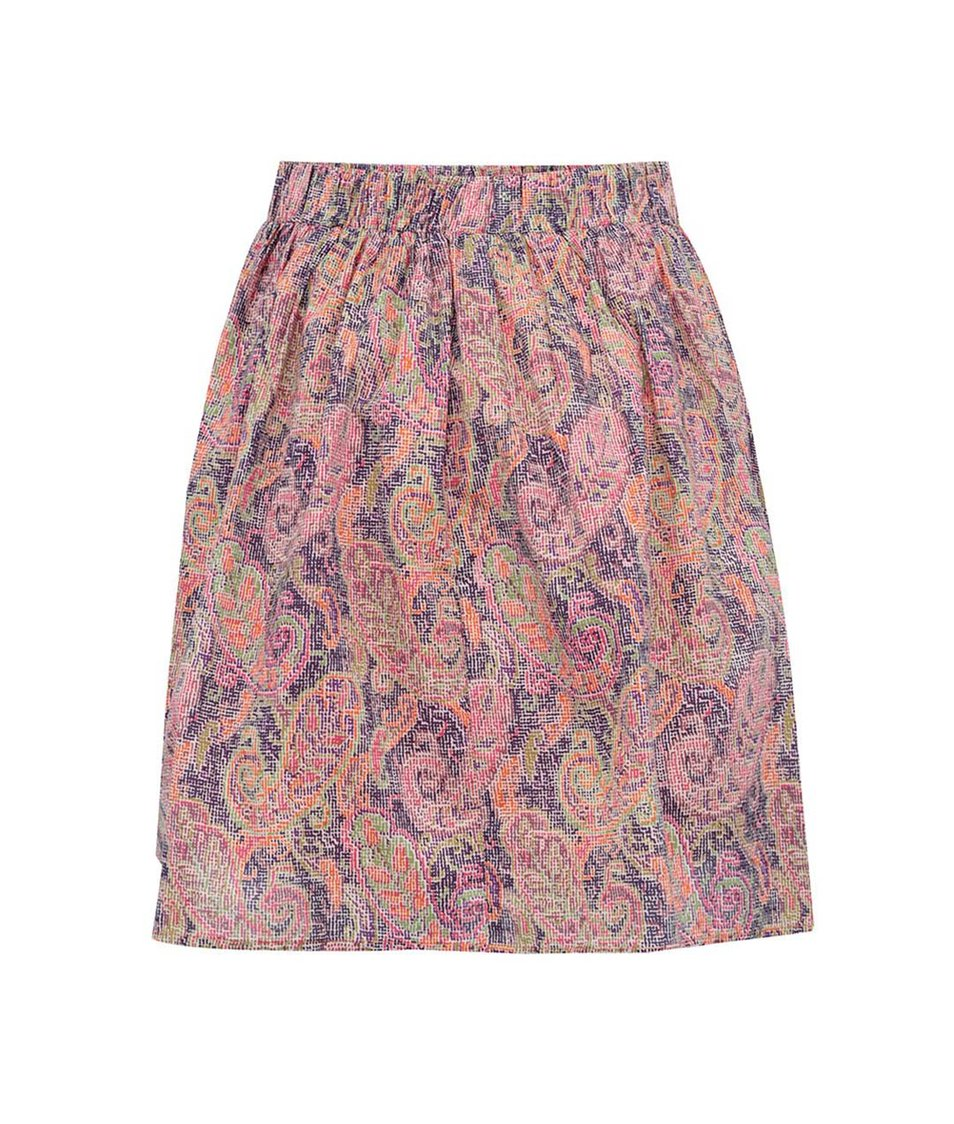 Fialová vzorovaná sukně GINGER+SOUL