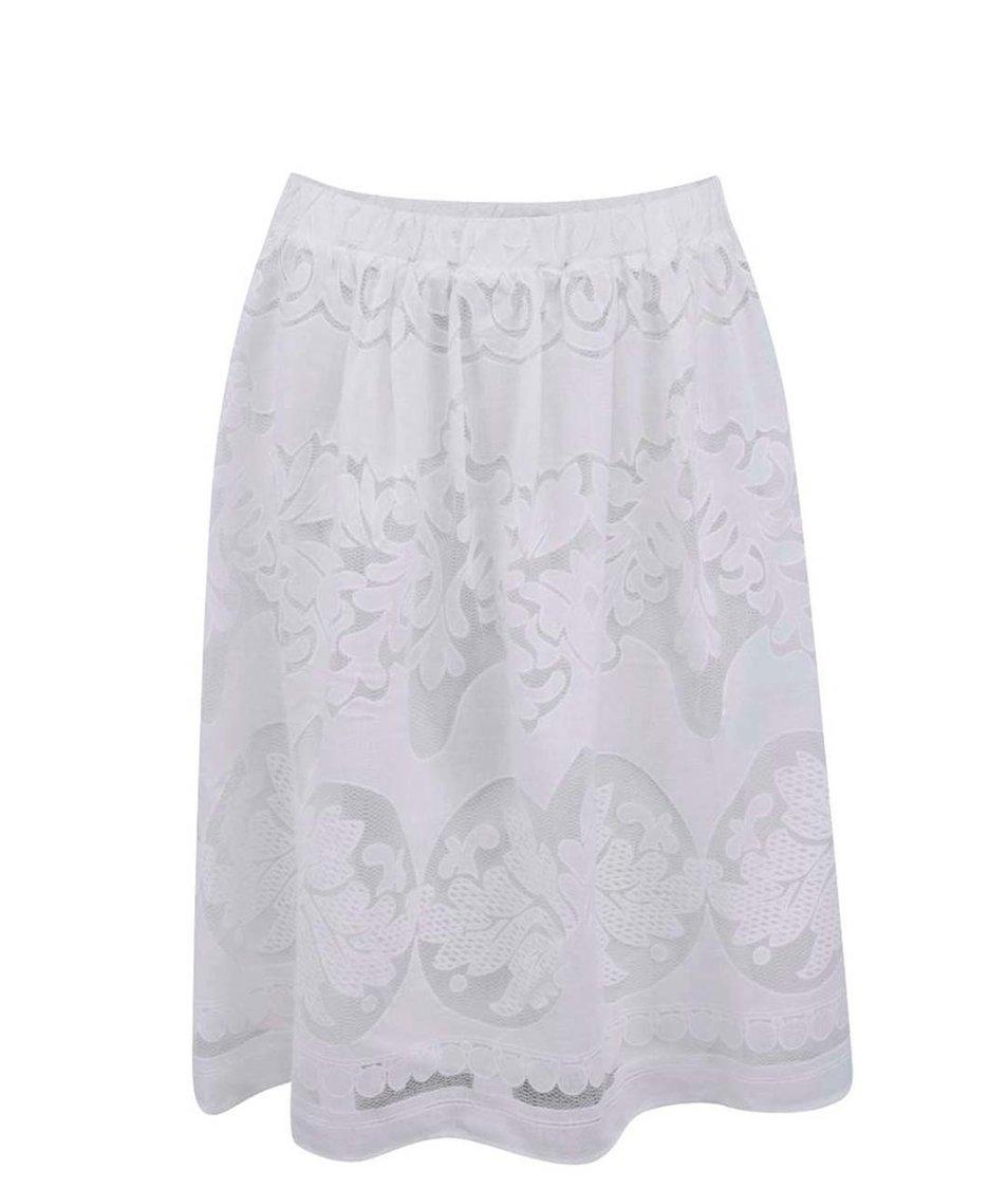 Bílá krajkovaná sukně VILA Classico