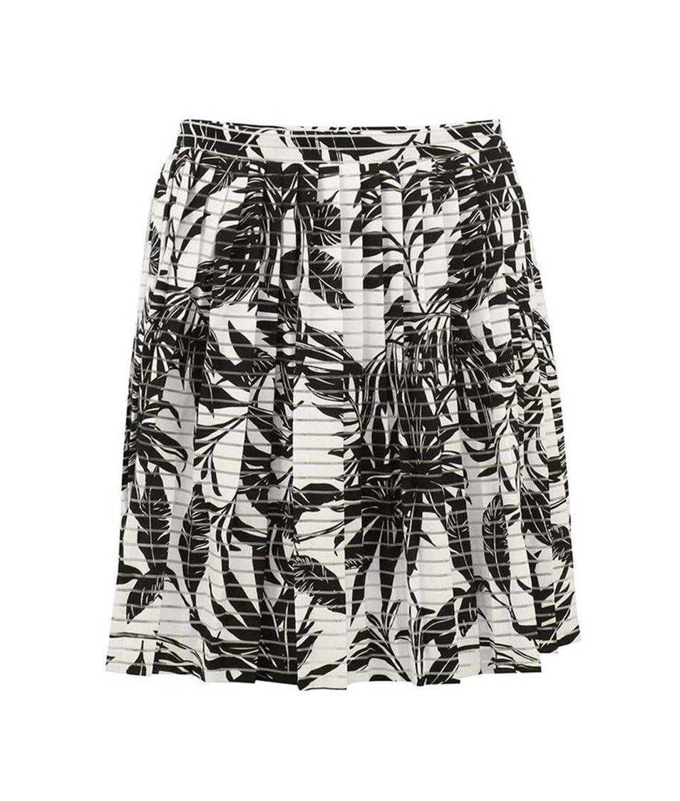 Černo-krémová vzorovaná sukně Vero Moda Nia Mia