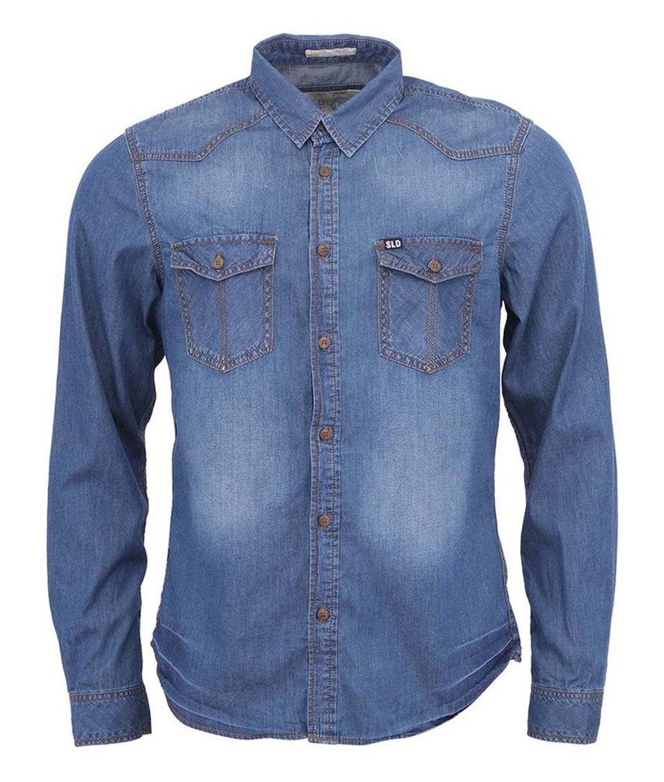 Modrá džínová košile !Solid