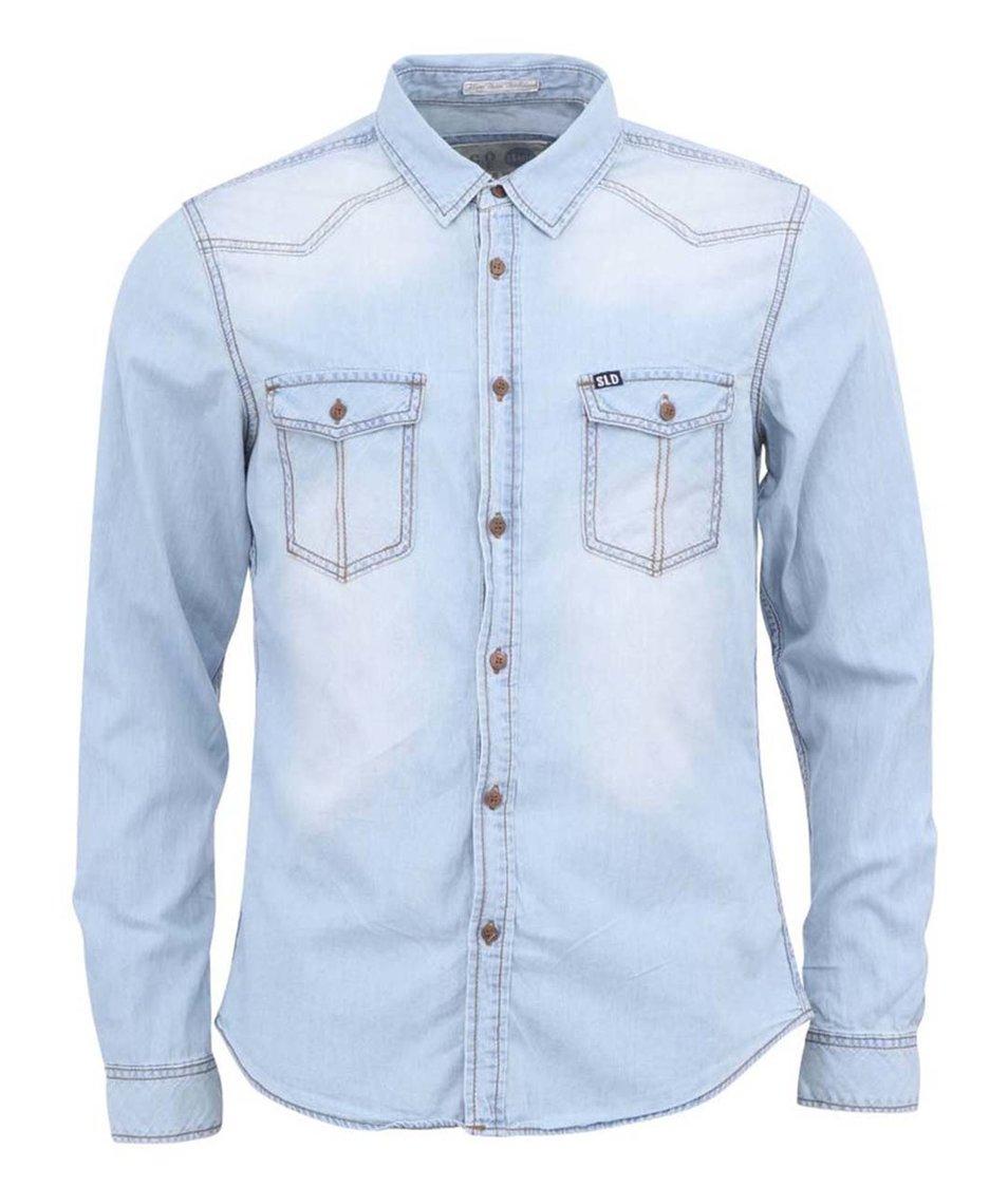 Světle modrá džínová košile !Solid