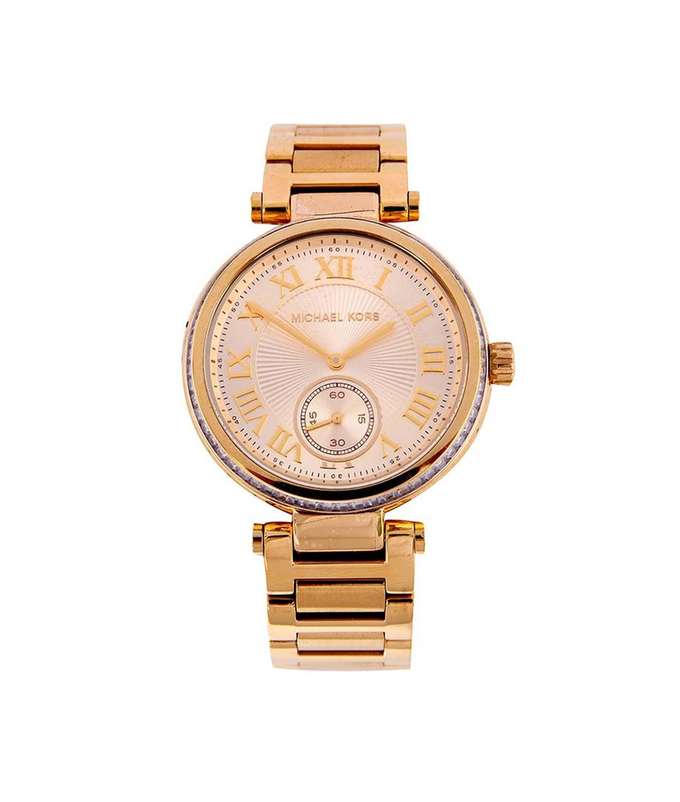 Dámské hodinky z pozlacené oceli Michael Kors Skylar