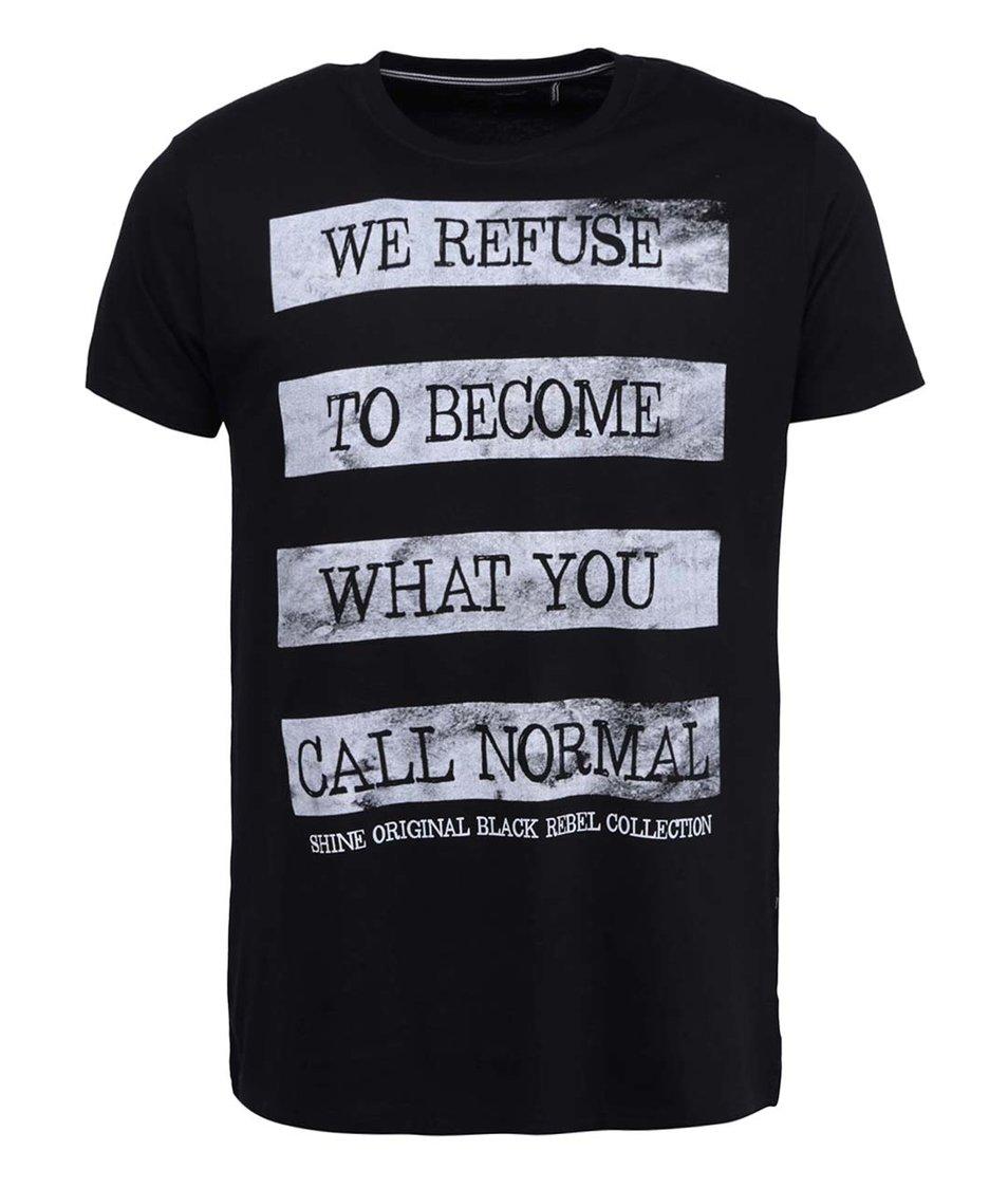 Černé triko s nápisem Shine Original