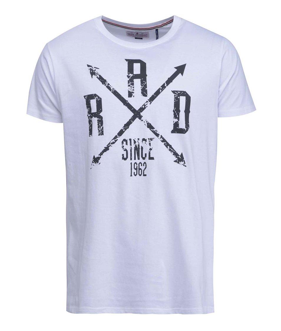 Bílé triko s černým potiskem Shine Original Rad