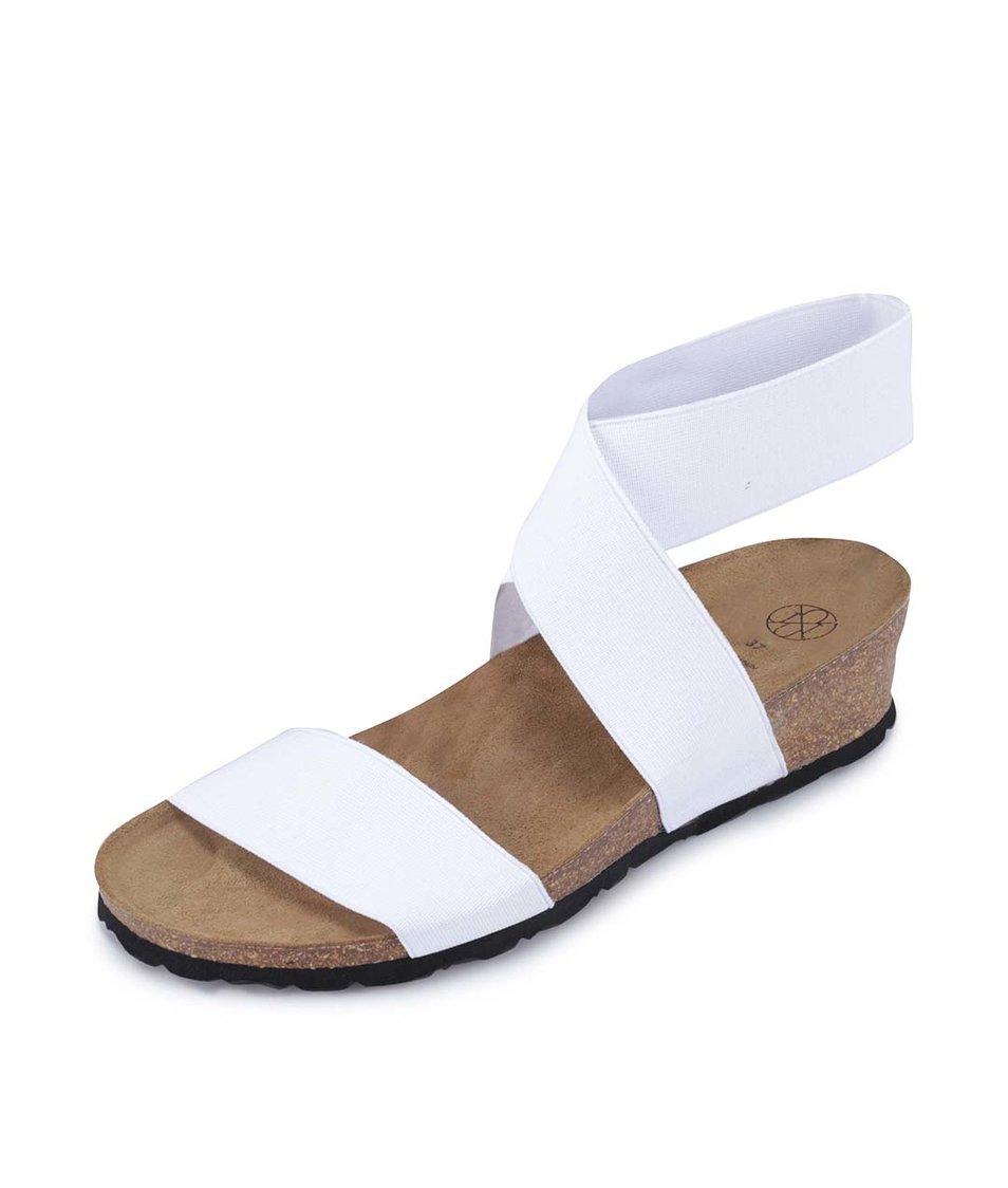 Bílé sandálky s překříženým páskem OJJU