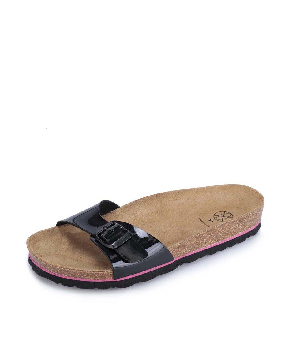 Černé lakované pantofle OJJU