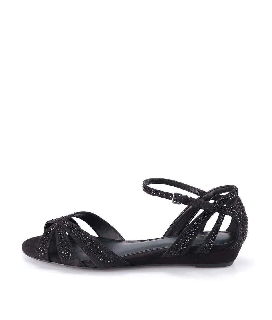 Černé páskové sandály ALDO Ragada