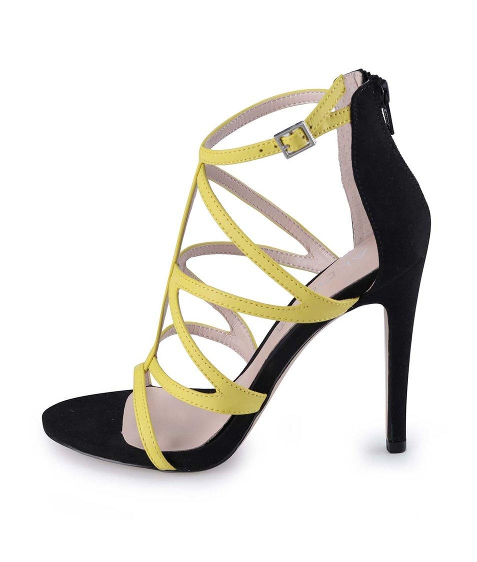 Žluto-černé páskové sandály ALDO Sevelalla