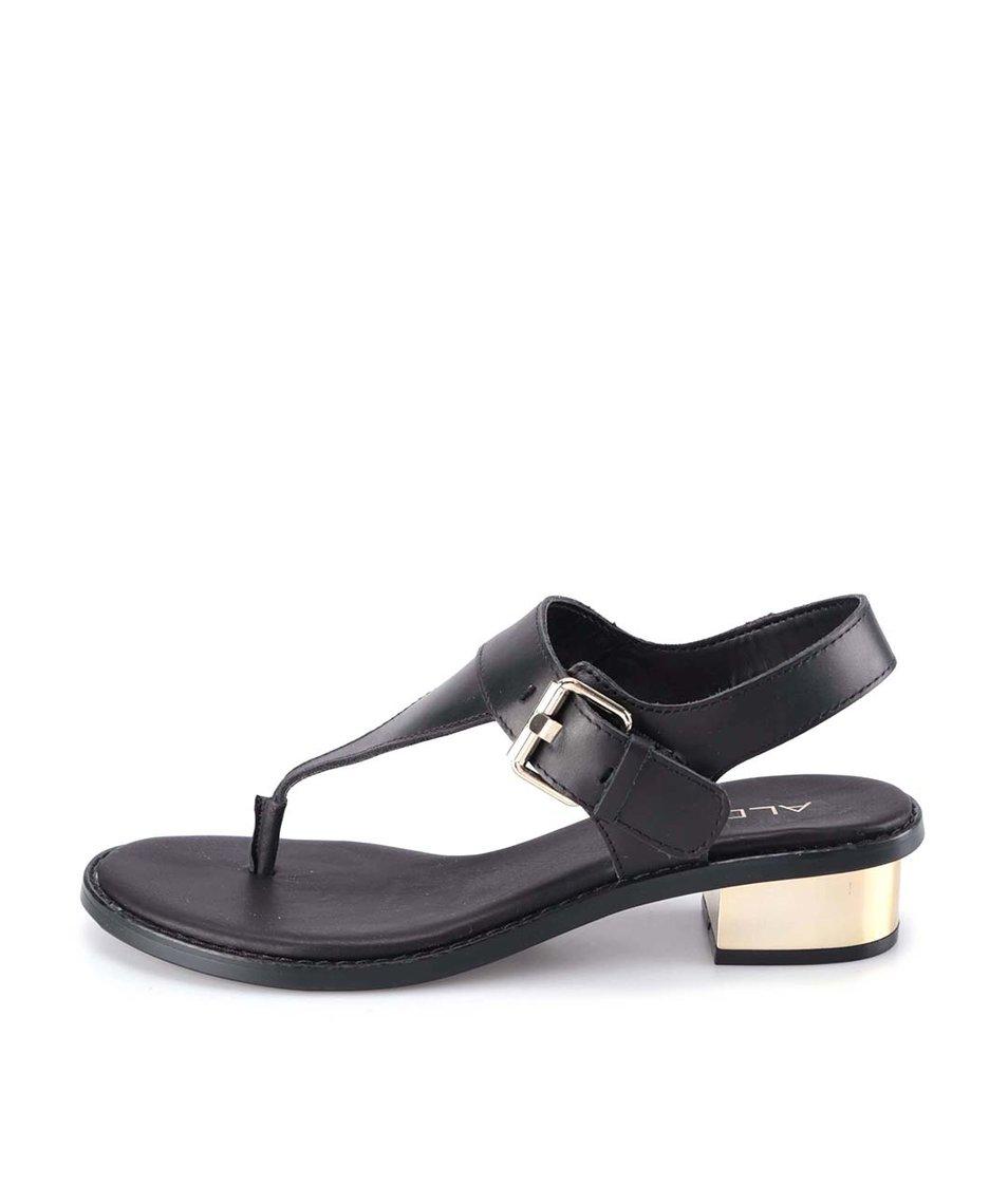 Černé kožené elegantní sandály ALDO Marsia