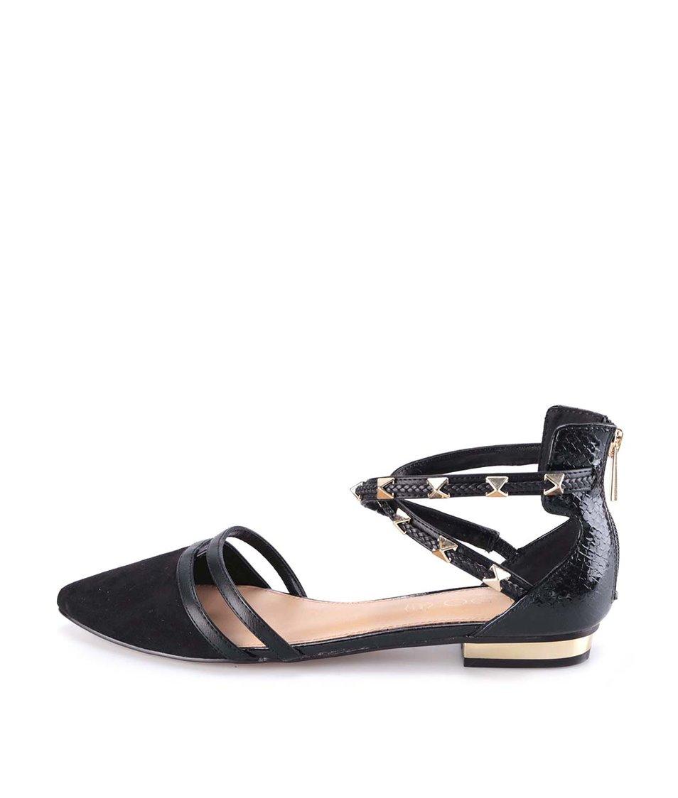 Černé sandály s kovovými druky ALDO Locadi
