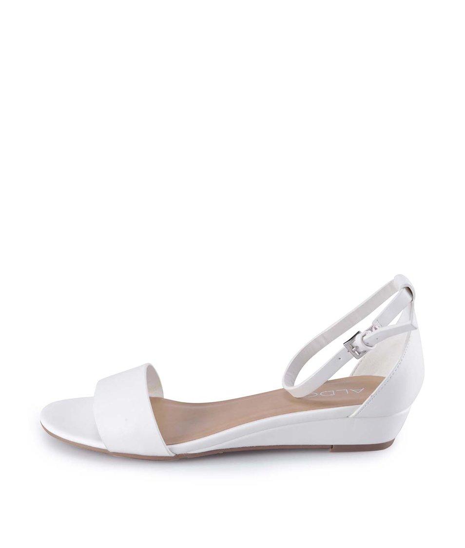 Bílé sandály se zapínáním na kotníku ALDO Gwiessi