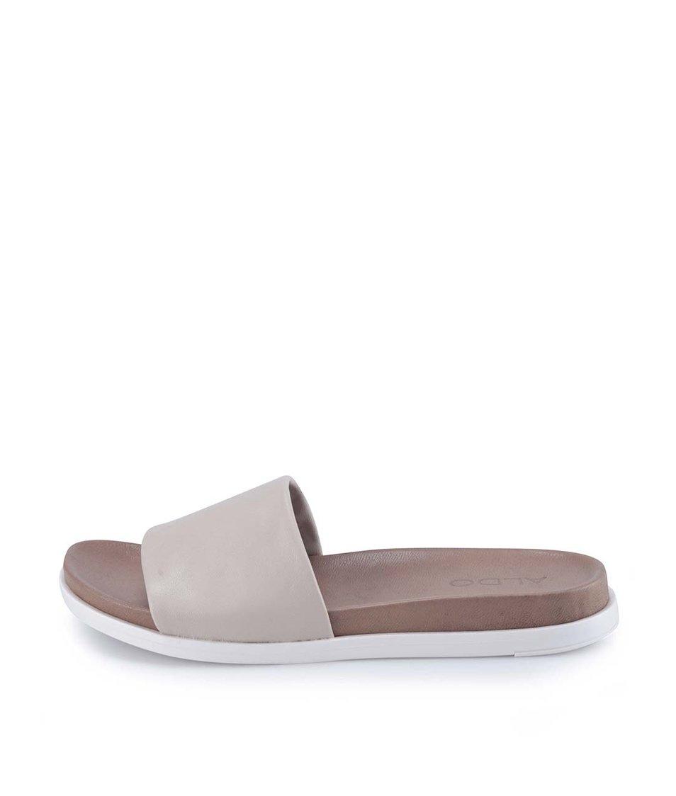 Béžové kožené pantofle ALDO Bralla