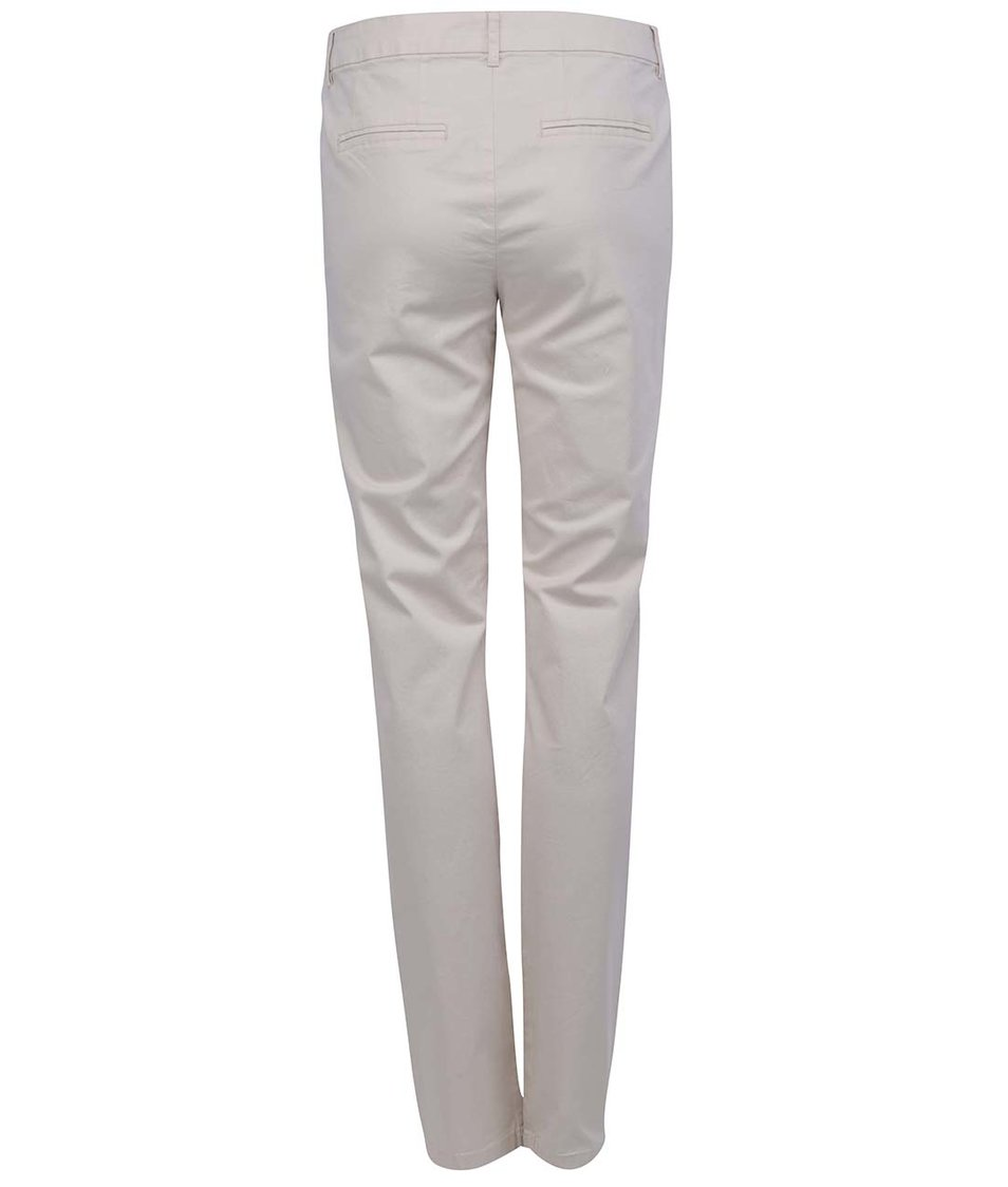 Krémové kalhoty VILA Ollay