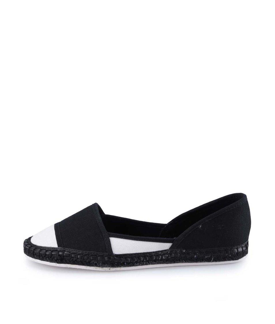 Bílo-černé plátěné boty ALDO Shulkin