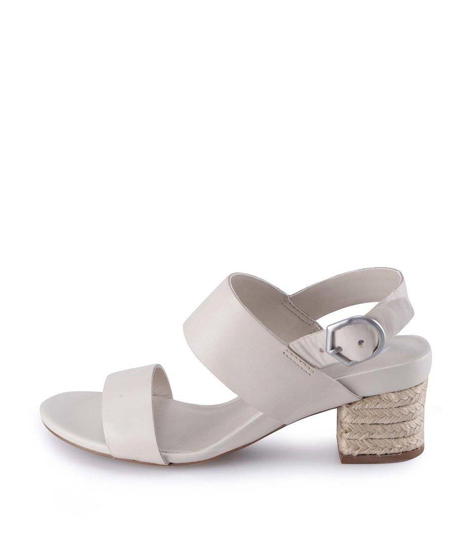 Krémové kožené elegantní sandály ALDO Cosolo