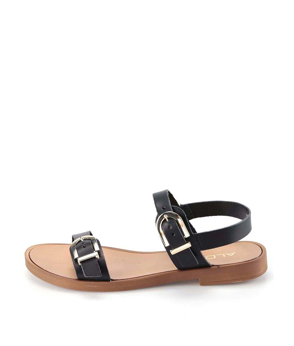 Černé sandály s koženými pásky ALDO Lareani
