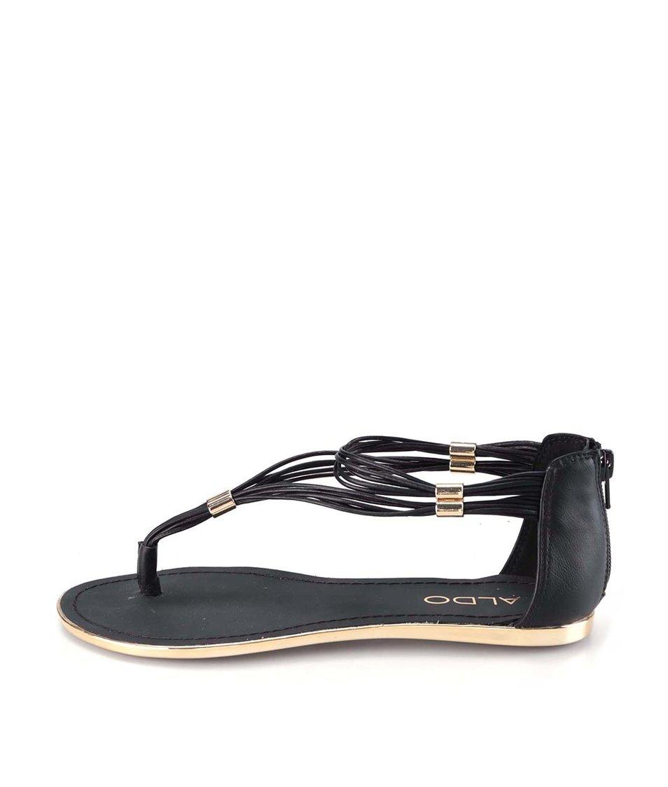 Černé sandály s proplétáním ALDO Magpie