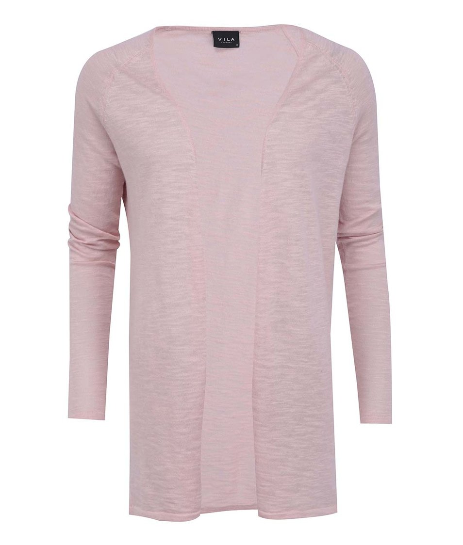 Růžový delší cardigan VILA Star