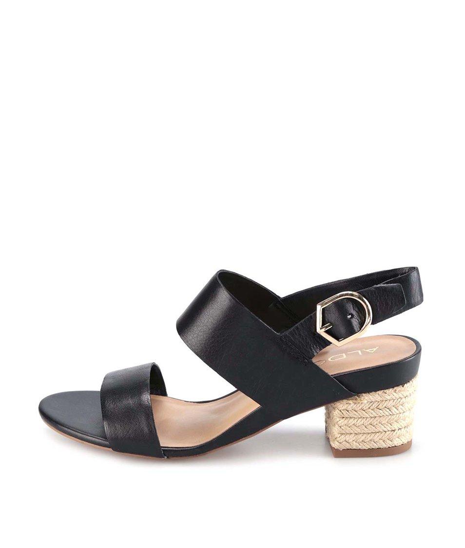 Černé kožené elegantní sandály ALDO Cosolo