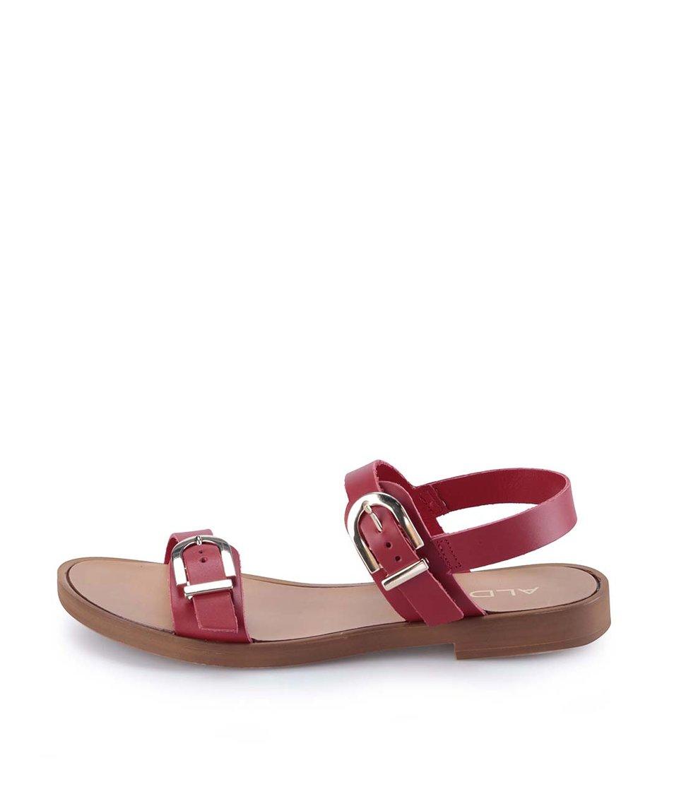 Červené kožené sandály ALDO Lareani