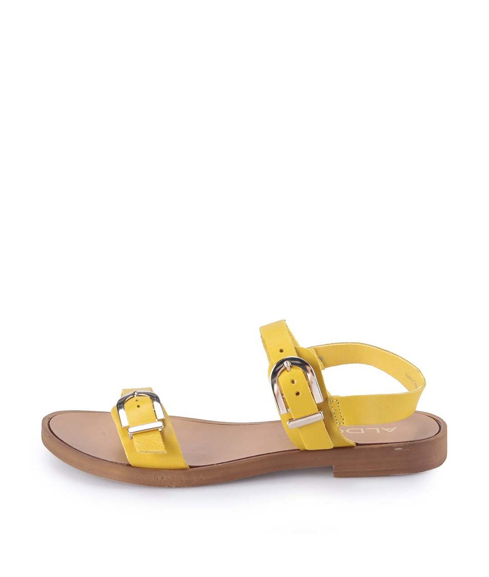 Žluté kožené sandály ALDO Lareani