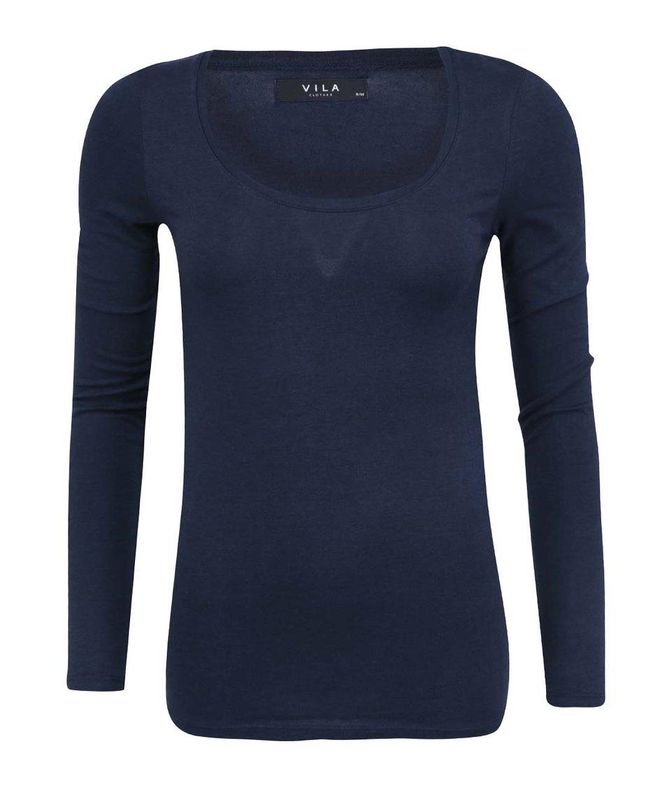 Tmavě modré tričko s dlouhými rukávy VILA Officiel