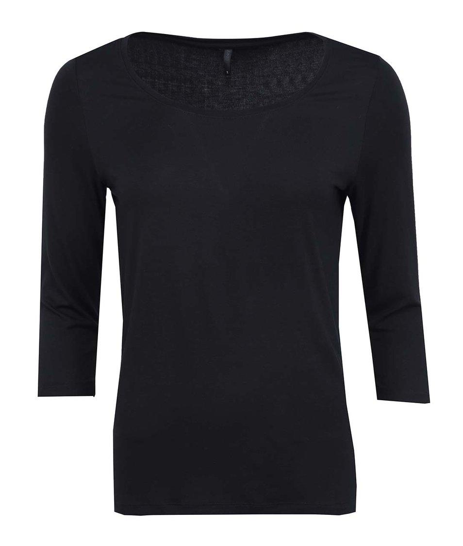 Černé triko s 3/4 rukávem ONLY Jewel