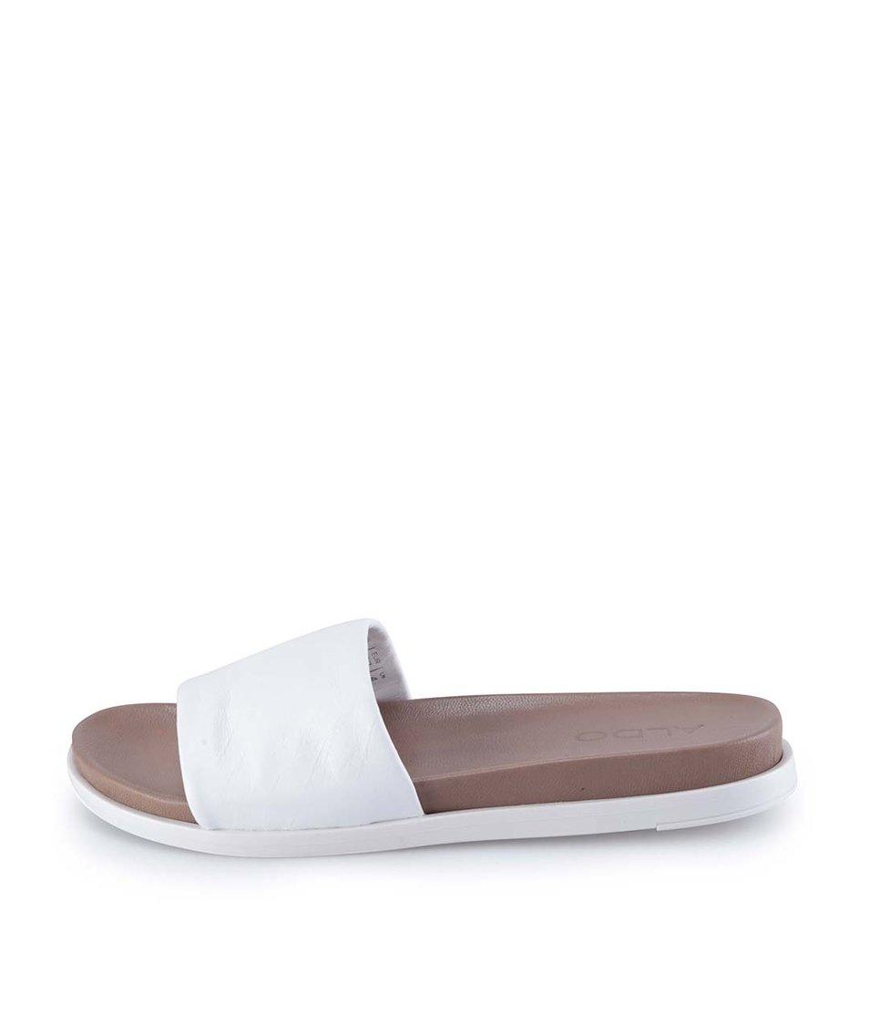 Bílé kožené pantofle ALDO Bralla