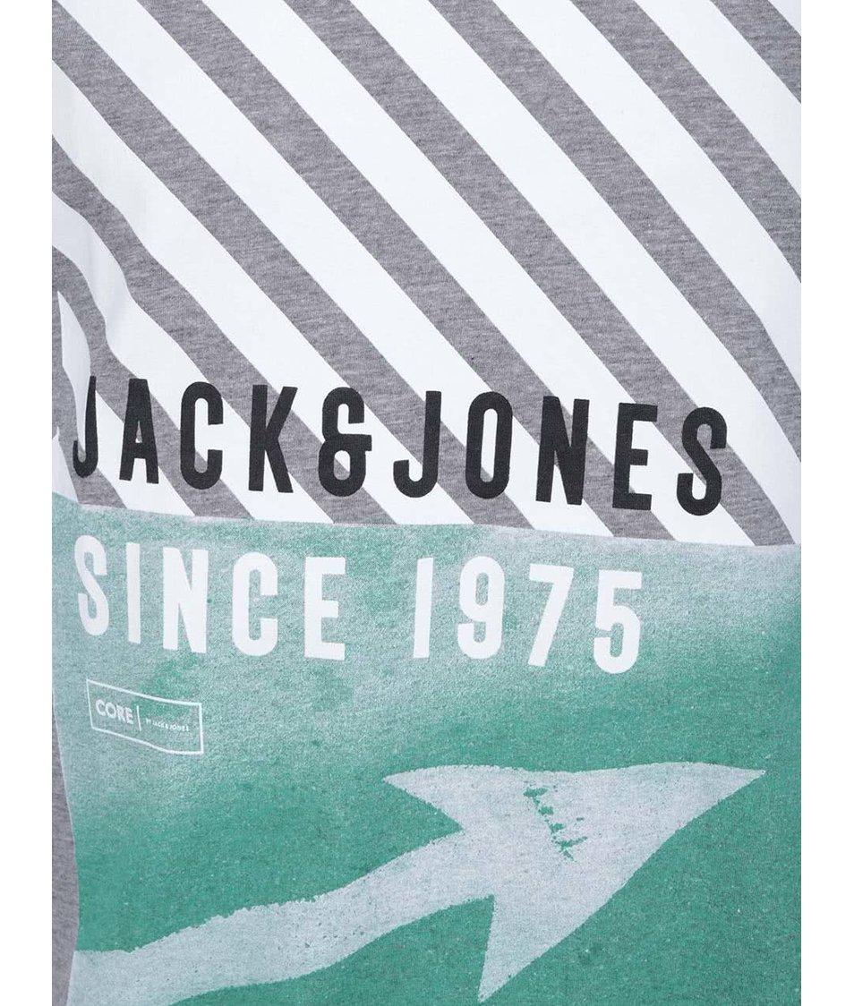 Šedé triko s potiskem Jack & Jones Road